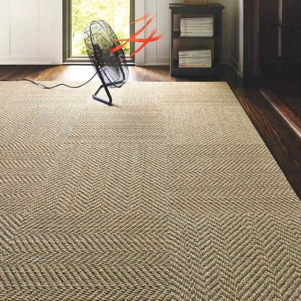 The Distinctive Look Of Sisal With A Subtle Herringbone Pattern Offered In A Nature Inspired Neutral Palette We Carpet Tiles Living Room Tiles Carpets For Kids