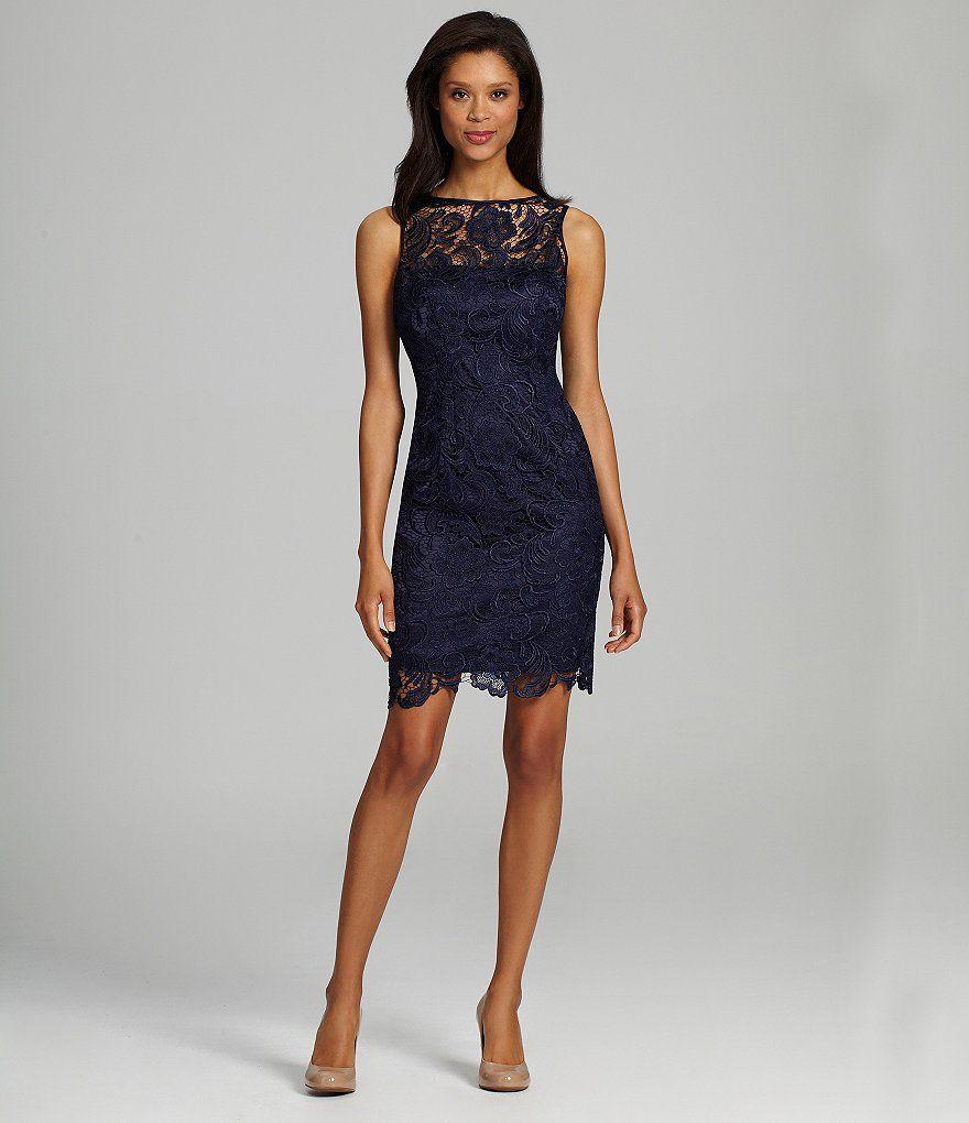 blush cocktail dress lace