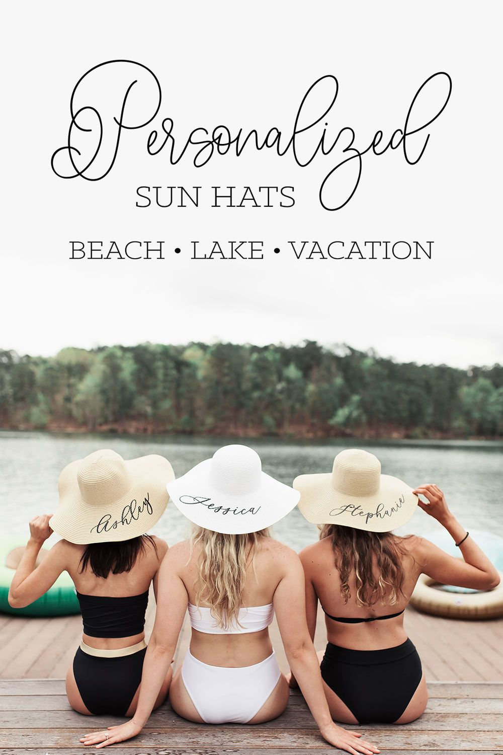 Personalized Beach Hat Cruise Bachelorette Party Summer