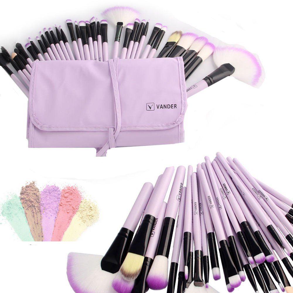 purple makeup brush set Makeup brush set, Makeup brush