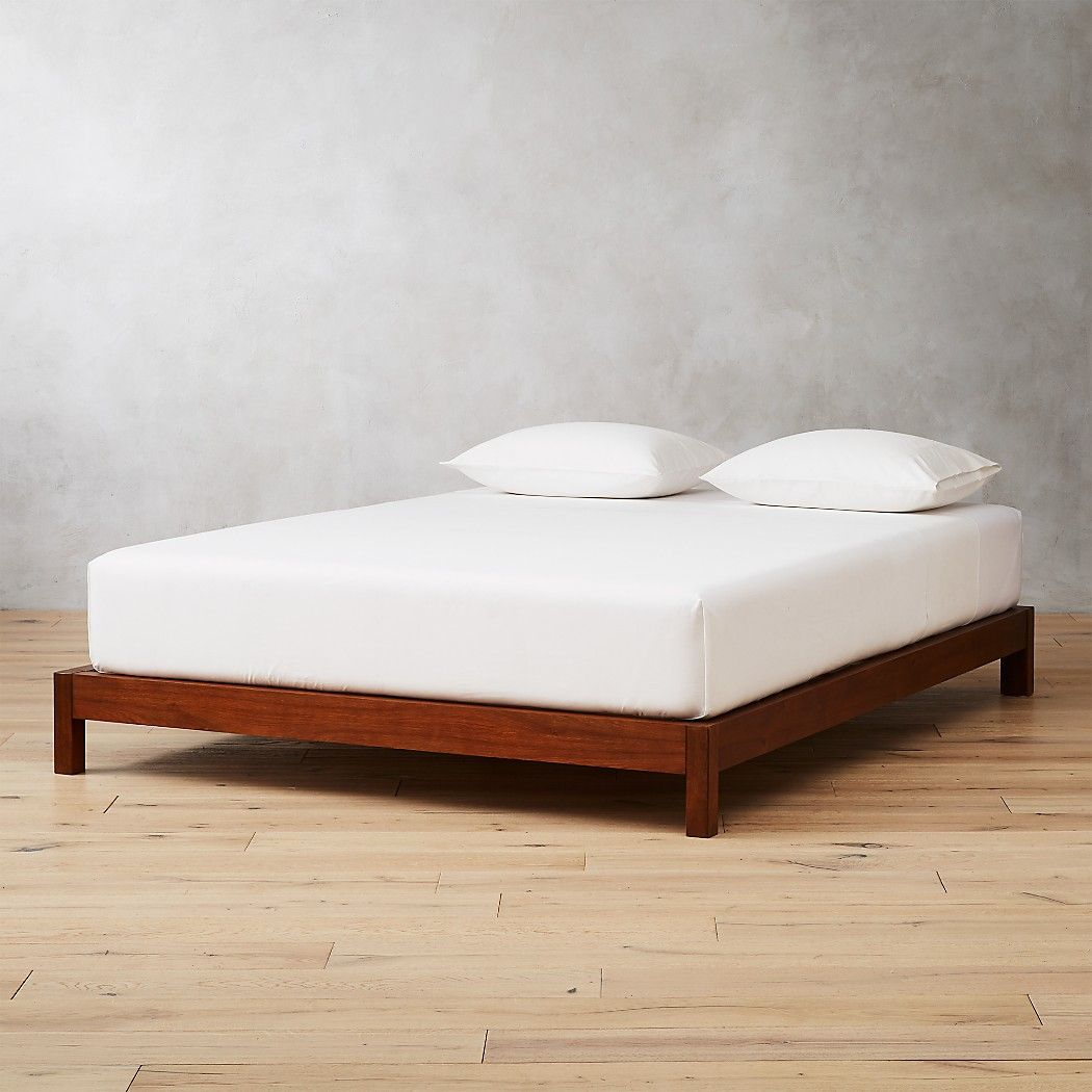 Simple Acacia Wood Bed Base Queen Bed Frame And Headboard Wood