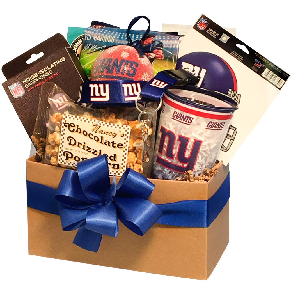 87a1e48601b New York Giants Football Christmas Gift Basket -  49.95 - the perfect gift  for Giants fans!