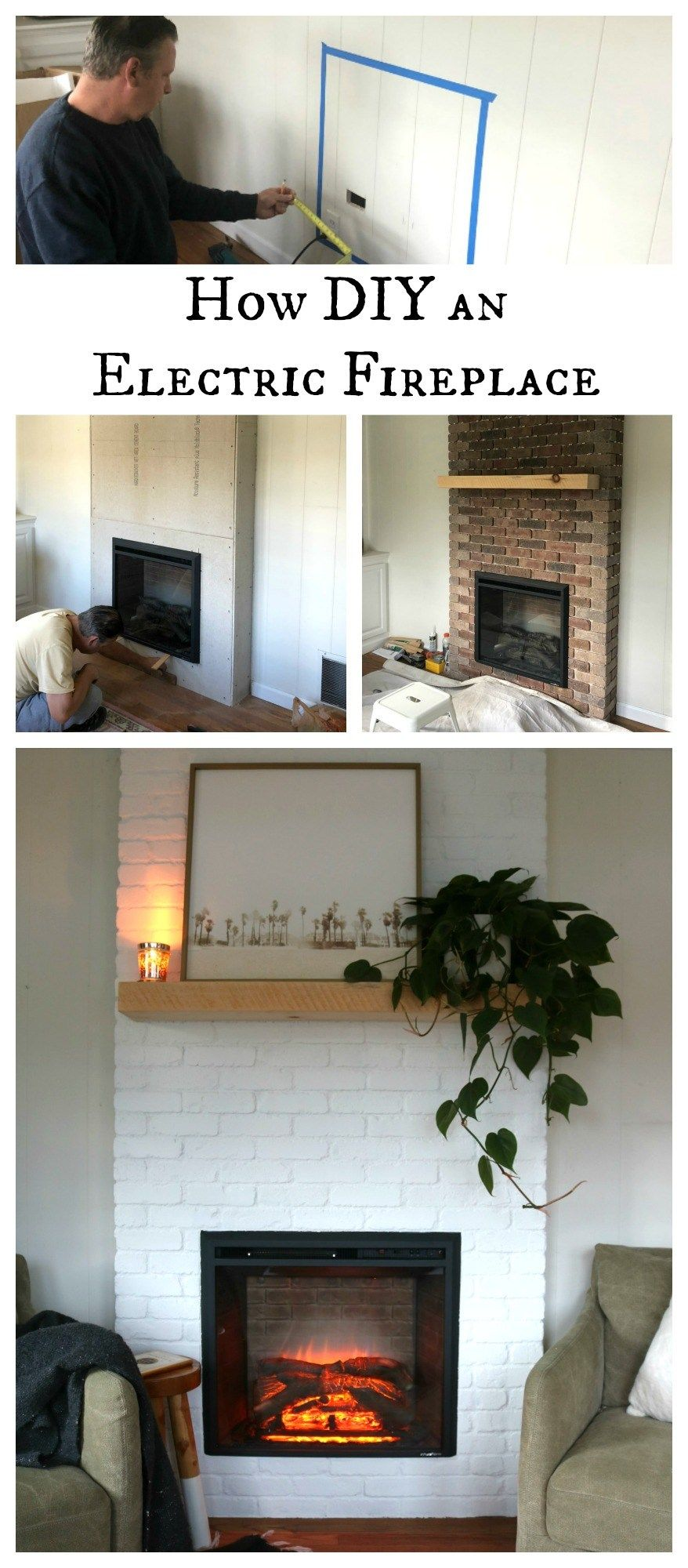 How to DIY an Electric Fireplace- Top Blog Posts | Nesting With Grace | On the blog, I share the full reveal, how much the total price was for us to add this electric fireplace, how long installation took and the why behind the choosing an electric fireplace! #fireplace #diy