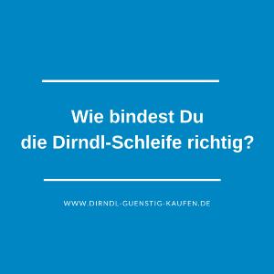 Dirndl-Schleife