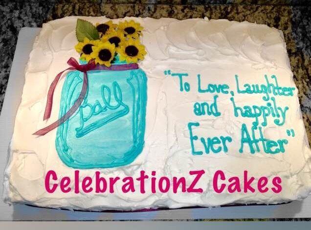 Mason Jar Bridal Shower Cake Cake Bridal Mason Jar Bridal