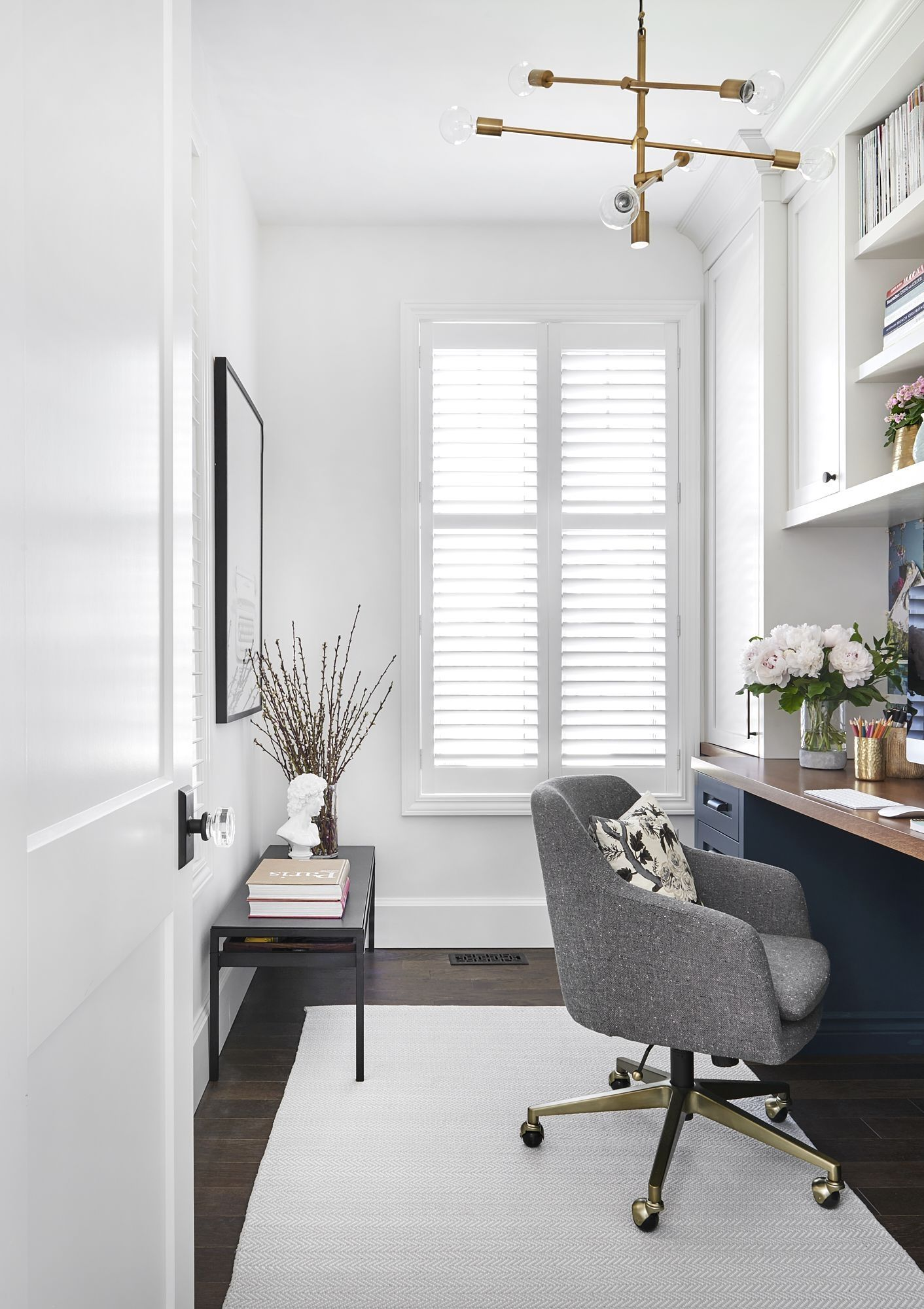 Office Designs For Small Spaces Vanessa Francis Design Beautiful Modern Bright Office Pretty Home Office Design Home Office Decor Modern Home Office