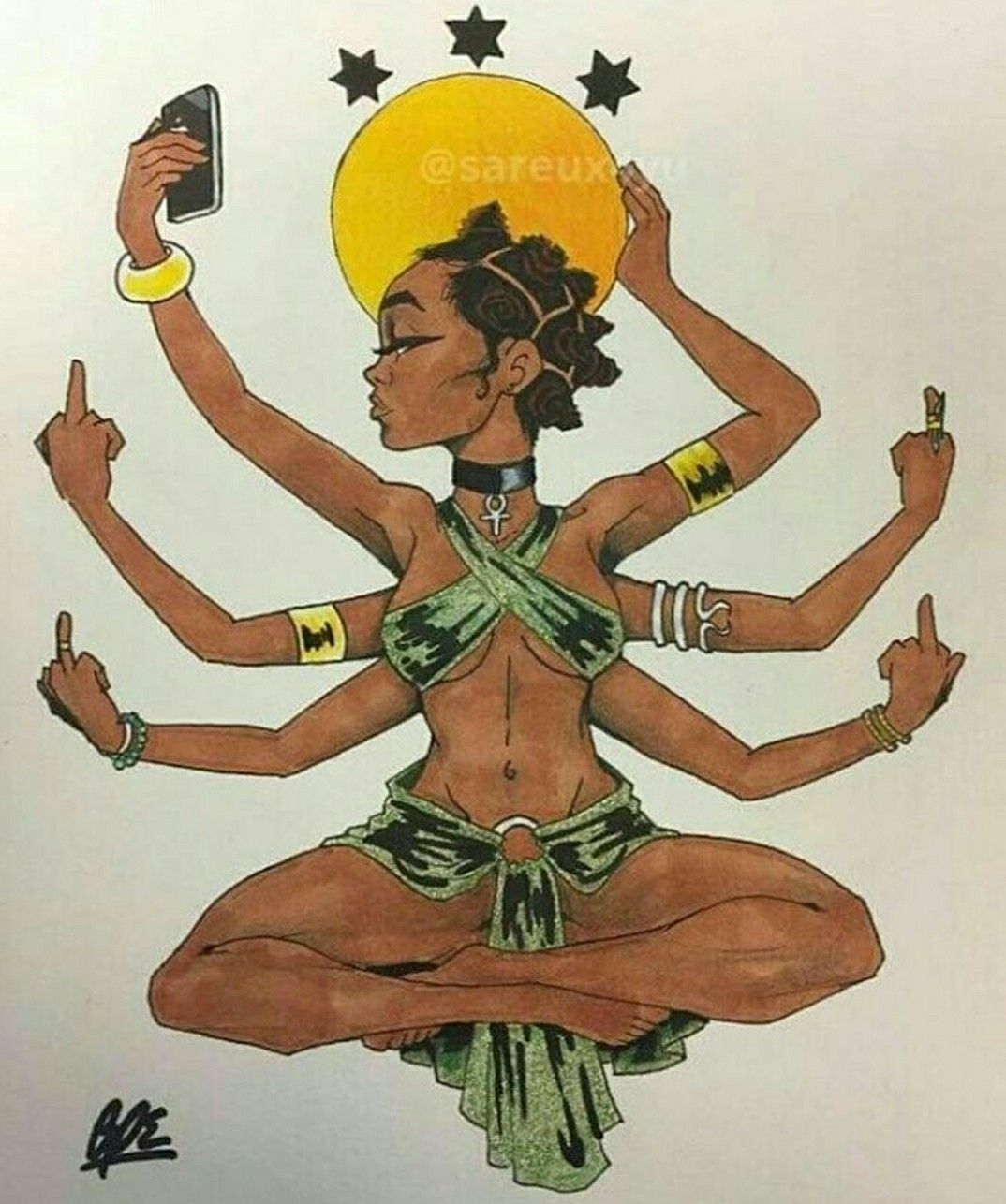 Allaboutalliana African Art Black Girl Magic Art Black Art