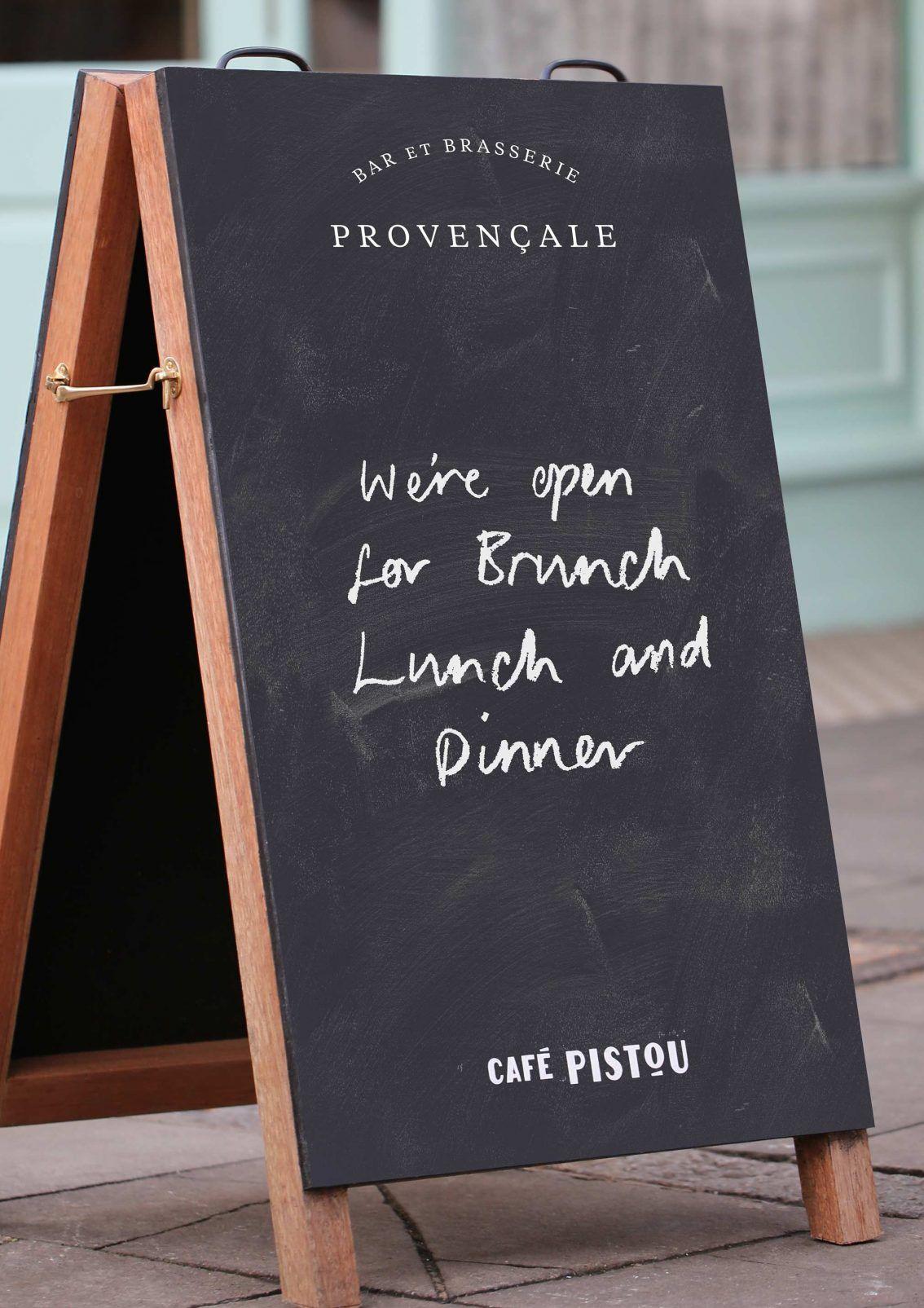Cafe Pistou ABoard Cafe signage, Restaurant signage