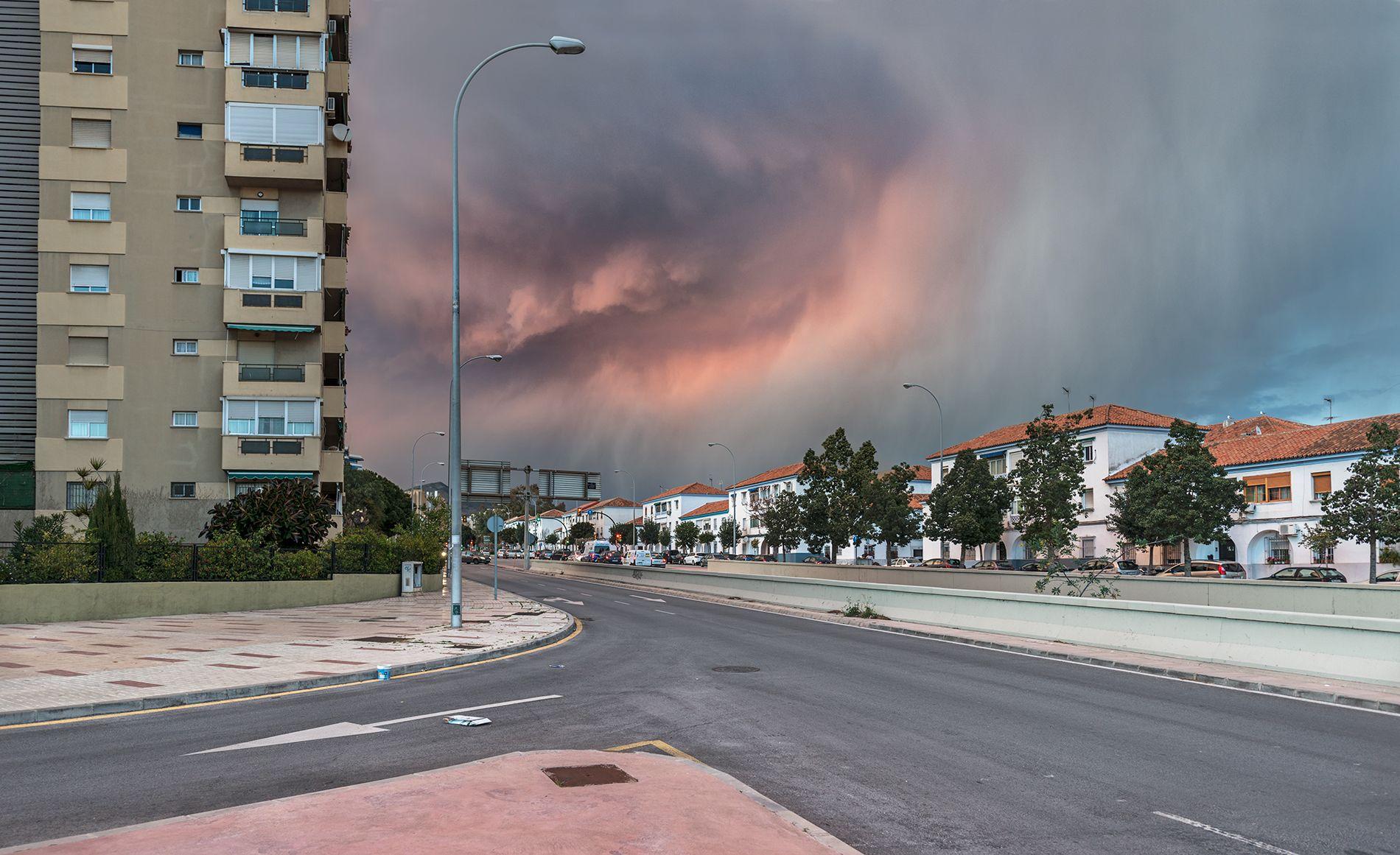 El cielo sobre Málaga