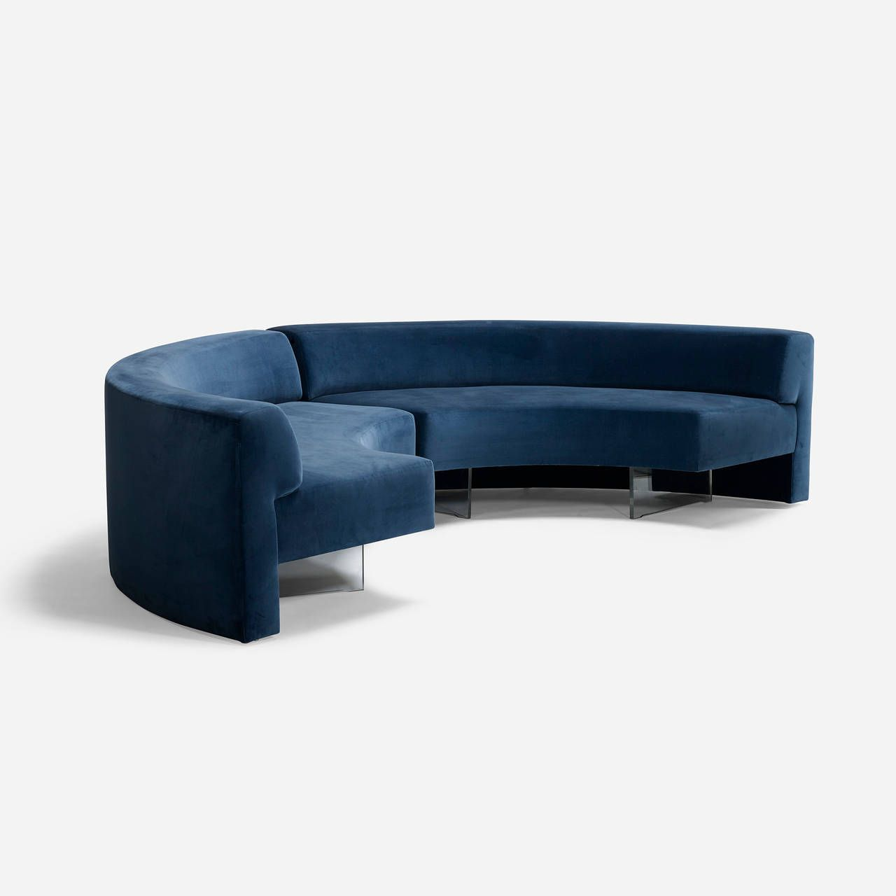 Omnibus sofas pair by vladimir kagan for vladimir kagan for Curved lounge