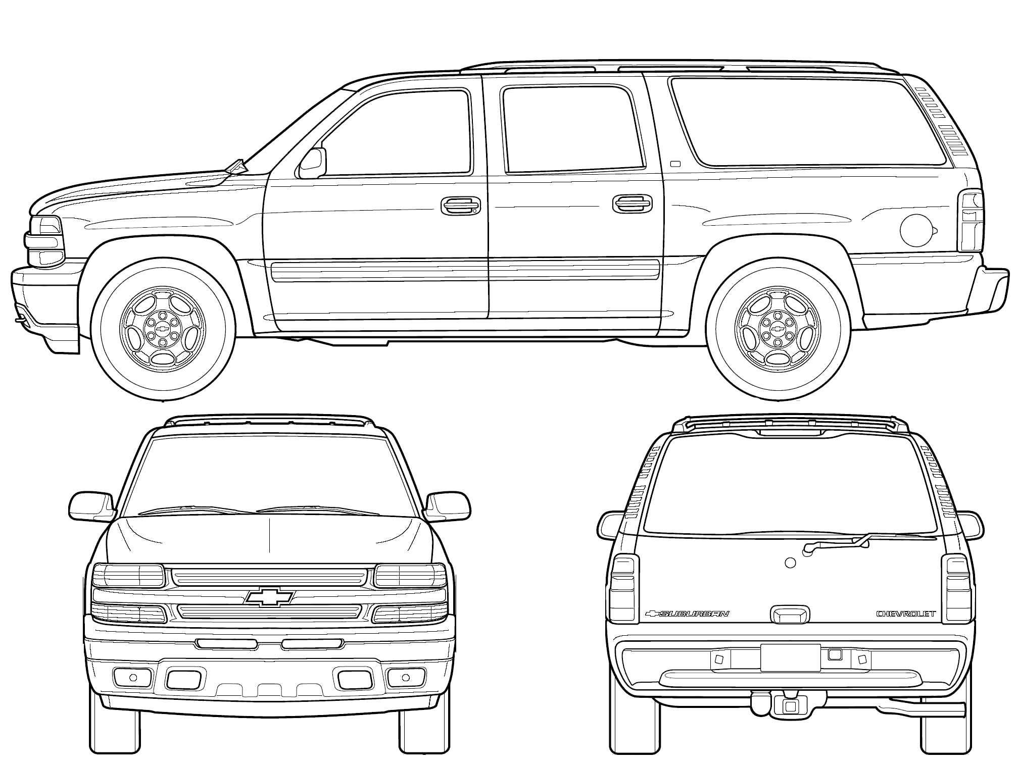 Chevy Suburban Coloring Pages Download Chevy Suburban Gmc Chevy