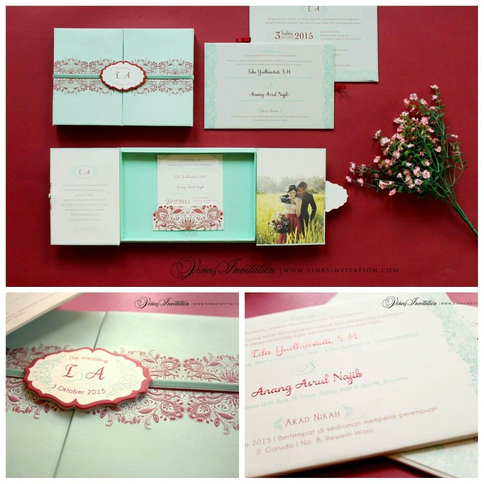 Vinas invitation. Sydney wedding. Indonesia wedding. Simple elegant ...