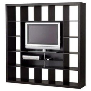 Cool Ikea Bookcase Entertainment Unit W Shelves Black Like New