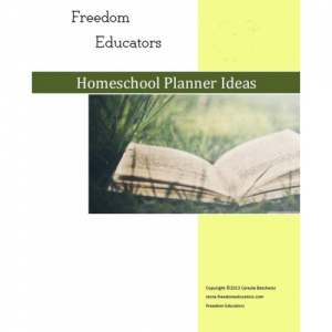Homeschool Planner In Pdf  Includes Attendance Curriculum