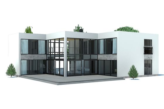 Houseplans.com Modern Rear Elevation Plan #537-67