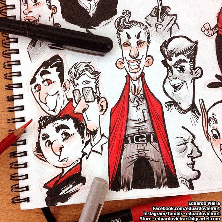Just a bunch of quickies for today's #inktober! ✒️ #inktober2015 #sketches #sketchbook #moleskine #sakura #pentel #cartoon #character #design #characterdesign #concept #art #ilustração #illustration #instadaily #igdaily #instagood #vscocam #artistworkout #eduardovieira #eduardovieirart ★ Find more at http://www.pinterest.com/competing