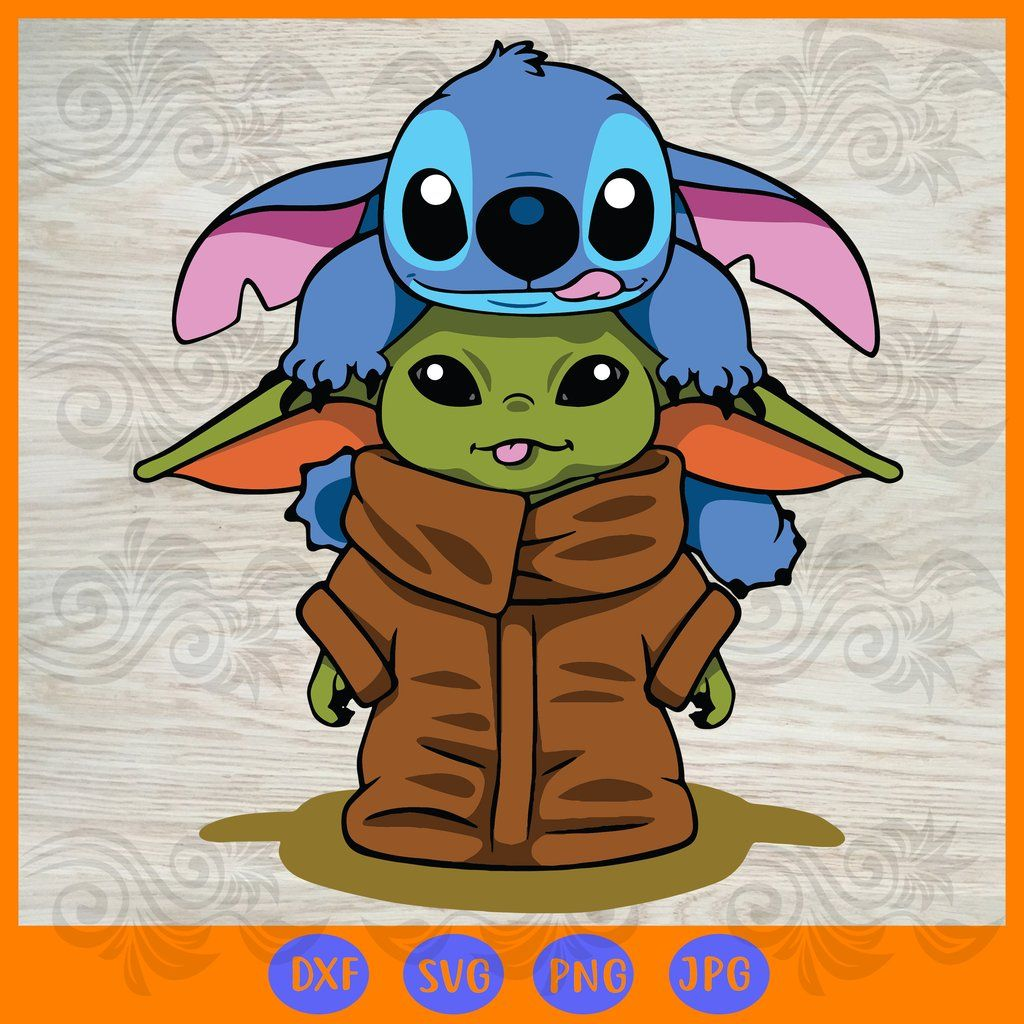 Stitch With Baby Yoda Svg Files For Silhouette Files For Cricut