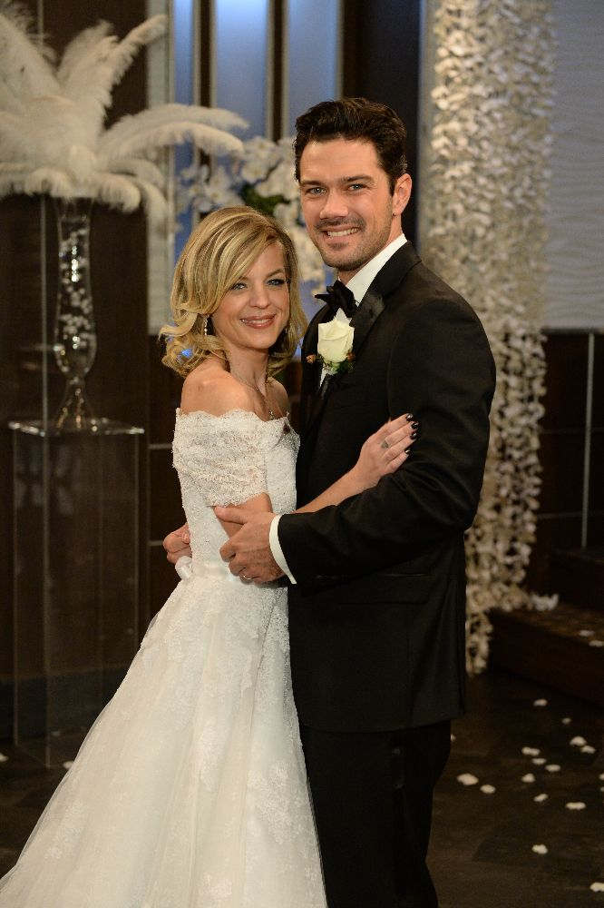 Maxie Jones and Nathan West get married 1-18-17 (played by
