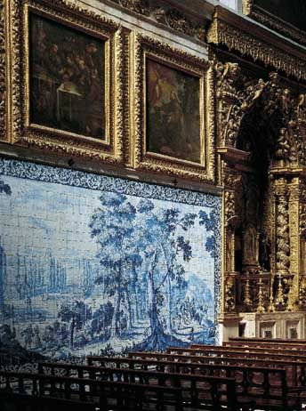 Iglesia de Madre de Deus,  Lisboa, ca. 1700.