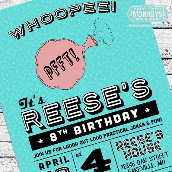 Retro Practical Joke Gag Or April Fool S Birthday Party Invitation