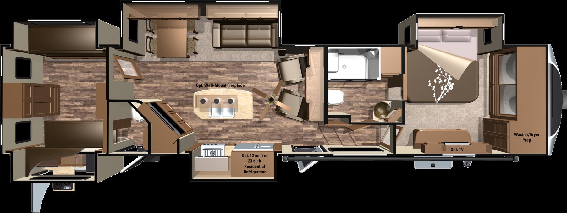Open Range 3x 3x427bhs Floorplan Camper Flooring Rv Floor