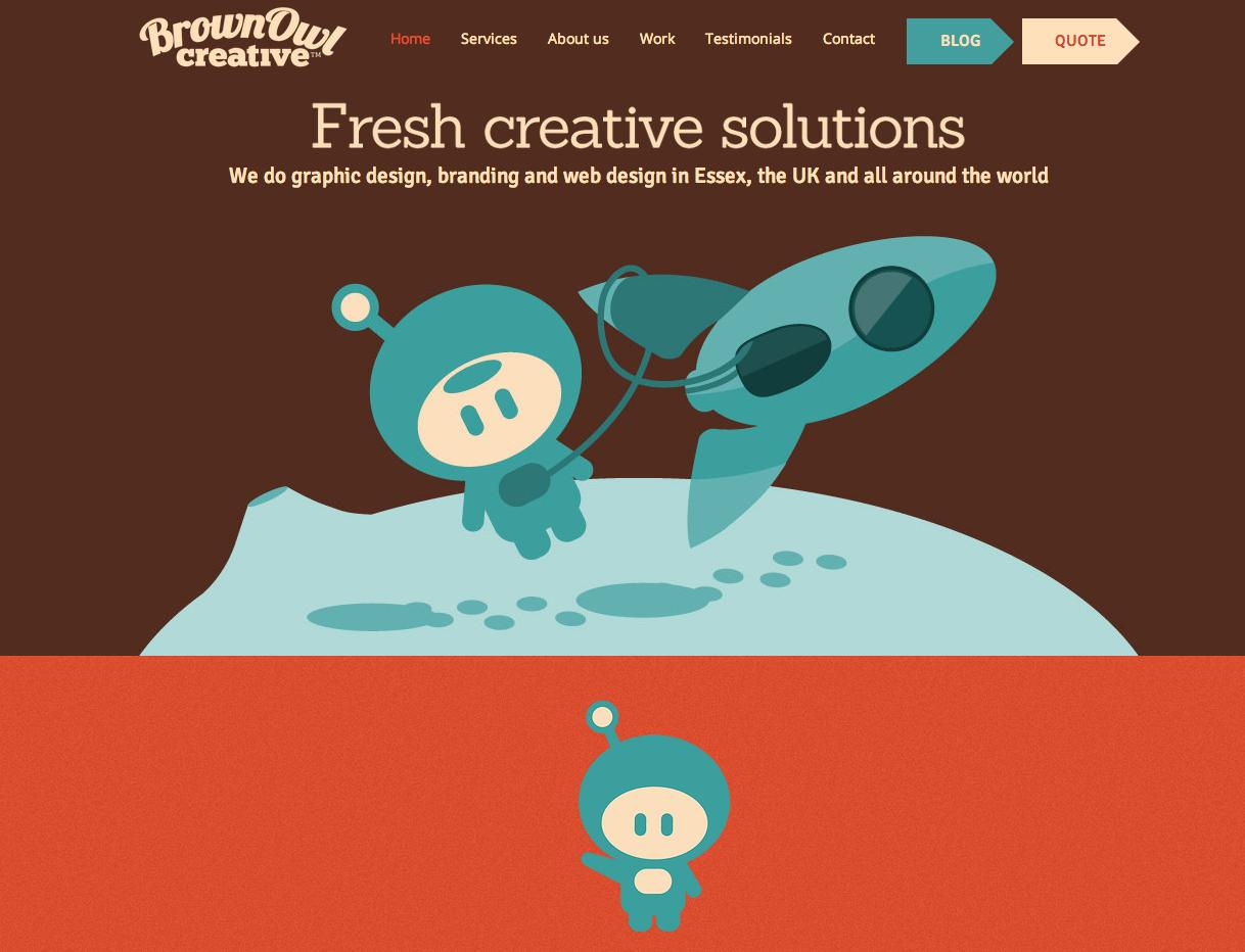 Brown Owl Creative Web Design Fun Illustrations Web Design Creative Website Design Creative Web Design