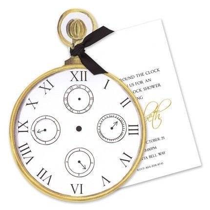 It's About Time Invitations - Stevie Streck Designs (