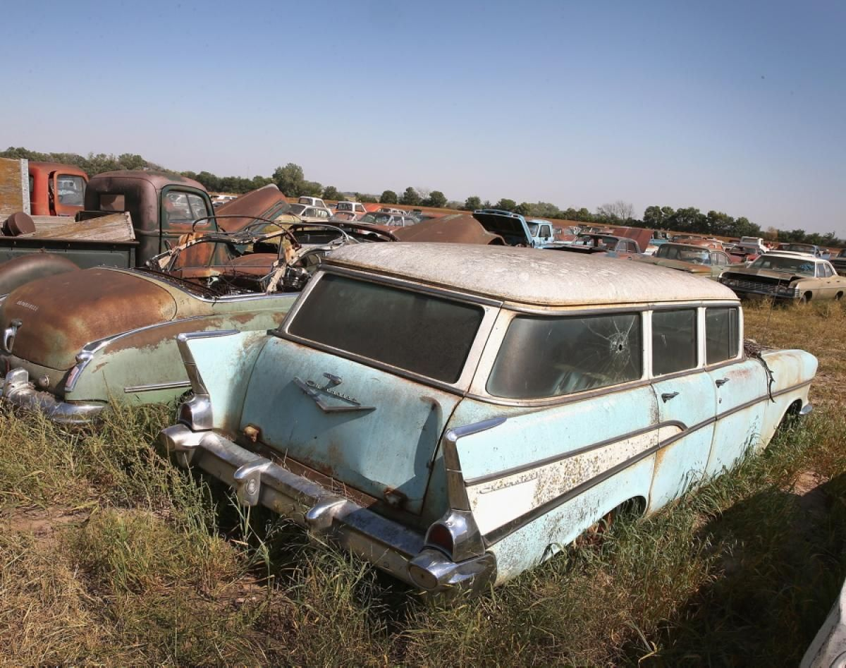 """Some of the """"new"""" Chevrolets up for auction have ultra-low mileage. """"It has been fun and amazing how people from all over the world are embracing the story of the Lambrecht collection,"""" said Yvette VanDerBrink, whose auction house is handling the sale."""