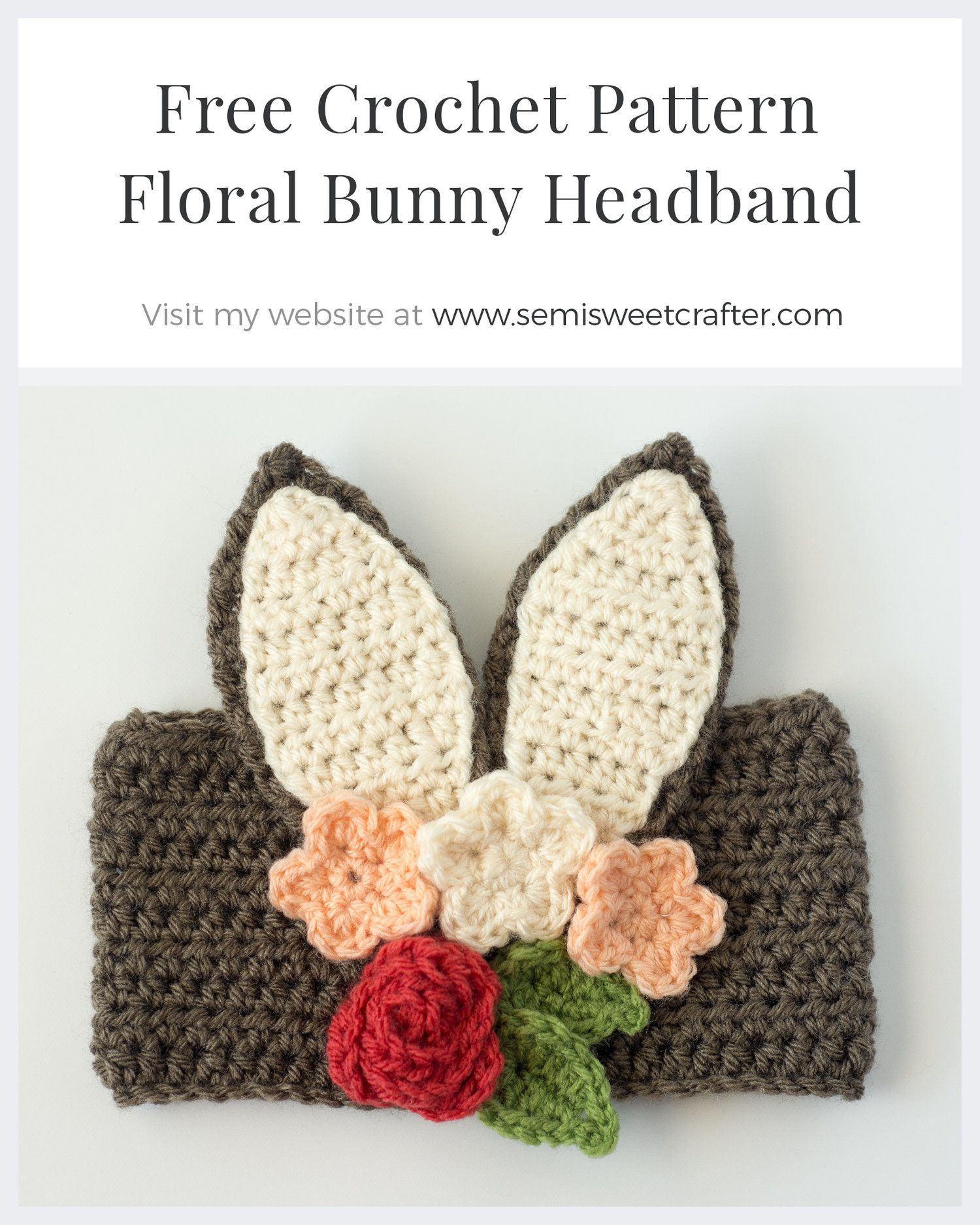 Floral Bunny Headband | Sewing, Crocheting & Crafts | Pinterest ...
