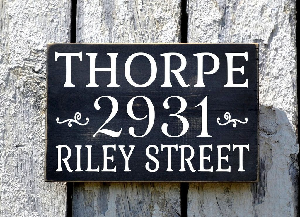 family sign address signs house numbers personalized. Black Bedroom Furniture Sets. Home Design Ideas
