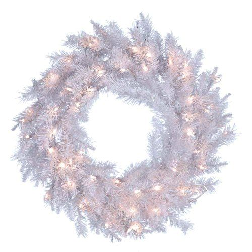 Kurt Adler Prelit Crystal Wreath 30inch White This Is An Amazon Affiliate Link You Can Find Out M Outdoor Christmas Wreaths White Wreath Christmas Wreaths