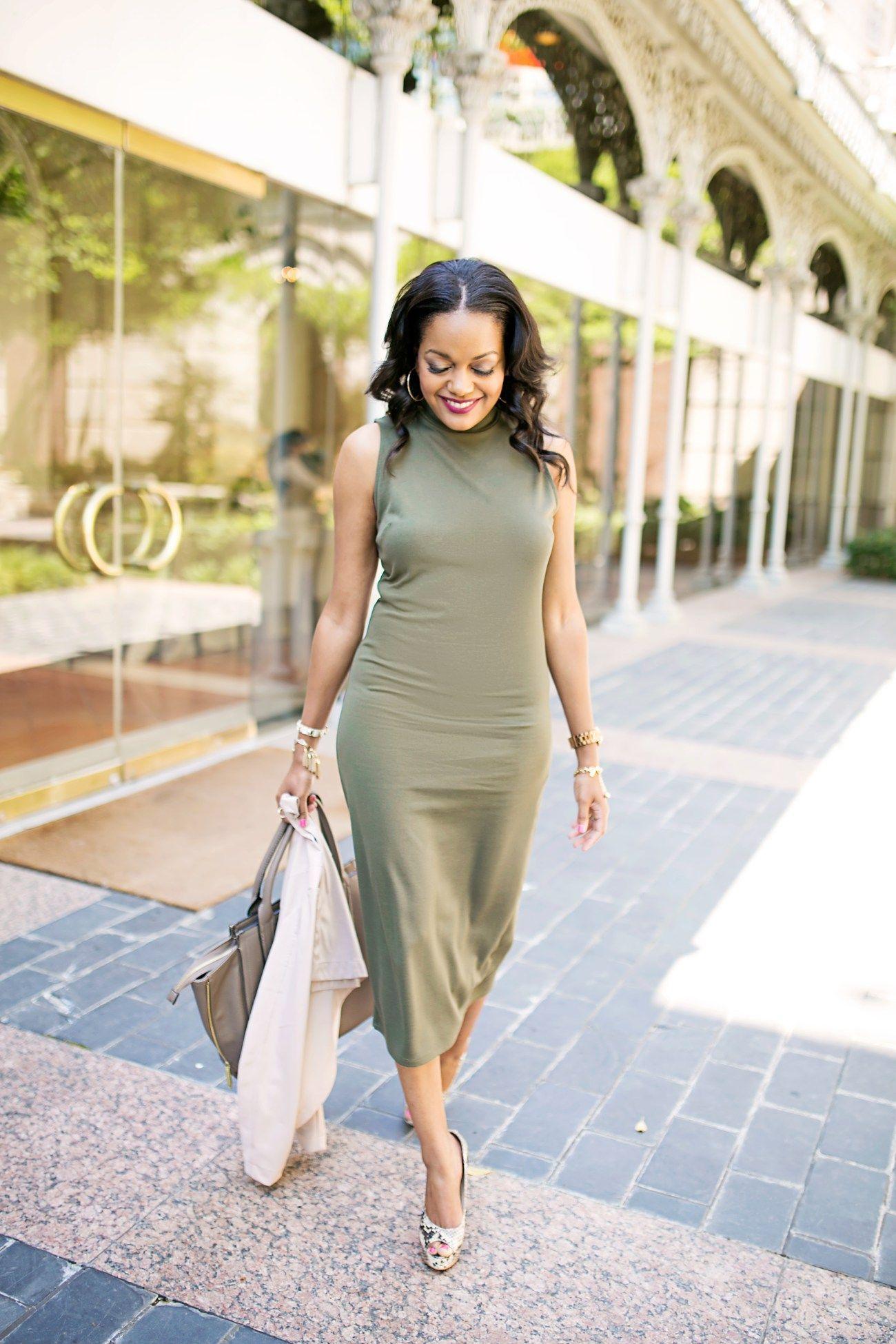 Who What Wear By Target Olive Midi Dress Dresses Midi Dress Dresses For Work [ 1950 x 1300 Pixel ]