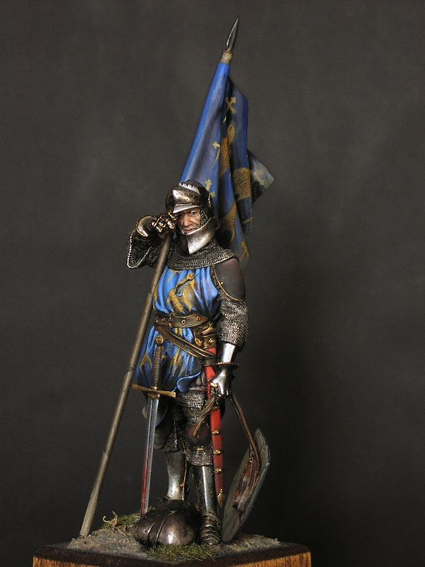 CoolMiniOrNot - French Knight with flag, 1346 by Philippe
