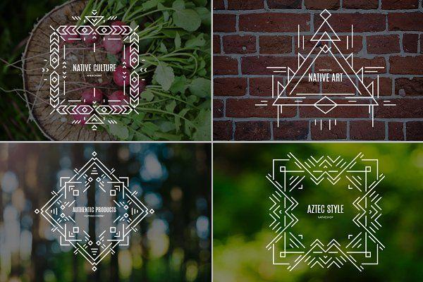 Tribal Line Logos & Badges Templates - Logos