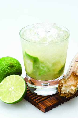 """Skinny"""" Caipirinha  2 oz Leblon Cachaca  1/2 Lime Juice  Agave Nectar to taste  Combine all ingredients in a cocktail shaker with ice and shake vigorously."""