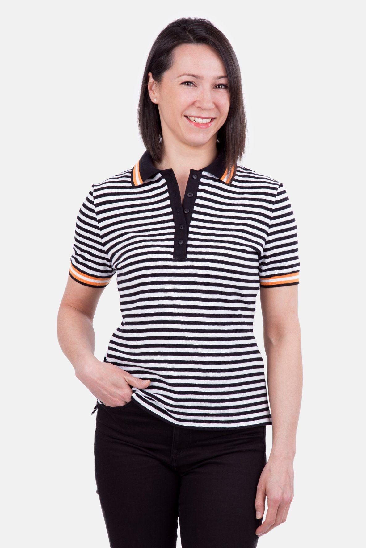 Schnittmuster Damen Poloshirt gestreift Nähanleitung