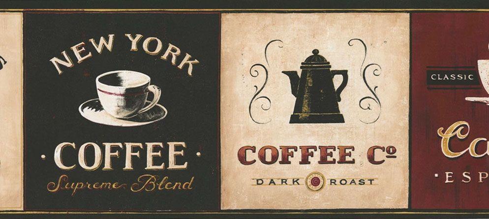 Cafe Coffee Wallpaper Border EB8900B coffee decor espresso