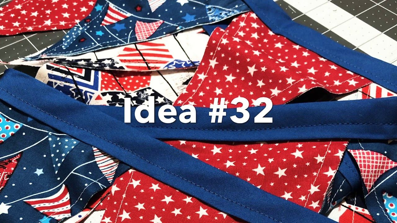Craft fair series 2019fabric pennant banneridea 32