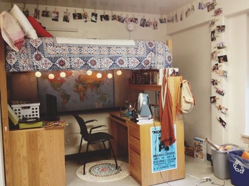 Dorm room pinteres for Cool college bedrooms