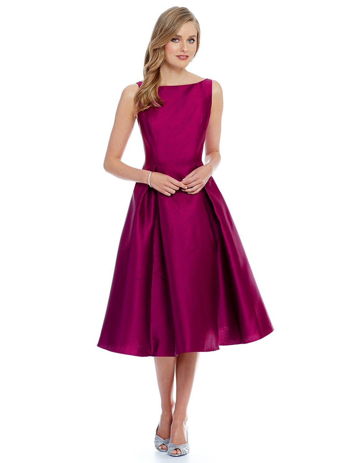 Fashion arrival magenta fit u flare women outfit evening party