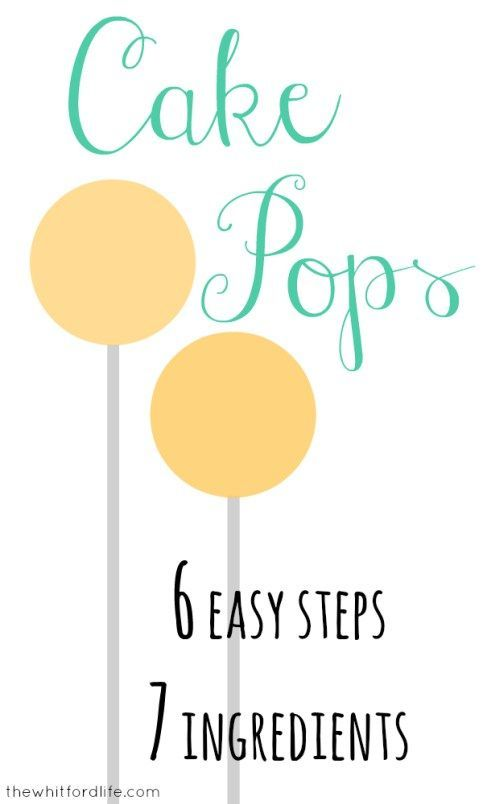 Cake Pops in 6 Easy Steps with only 7 Ingredients www.thewhitfordlife.com