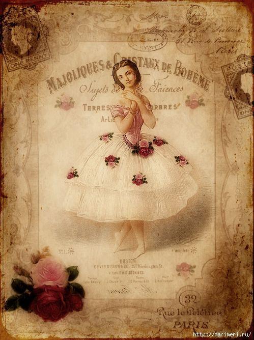 спорим картинки для декупажа балерины винтаж нем