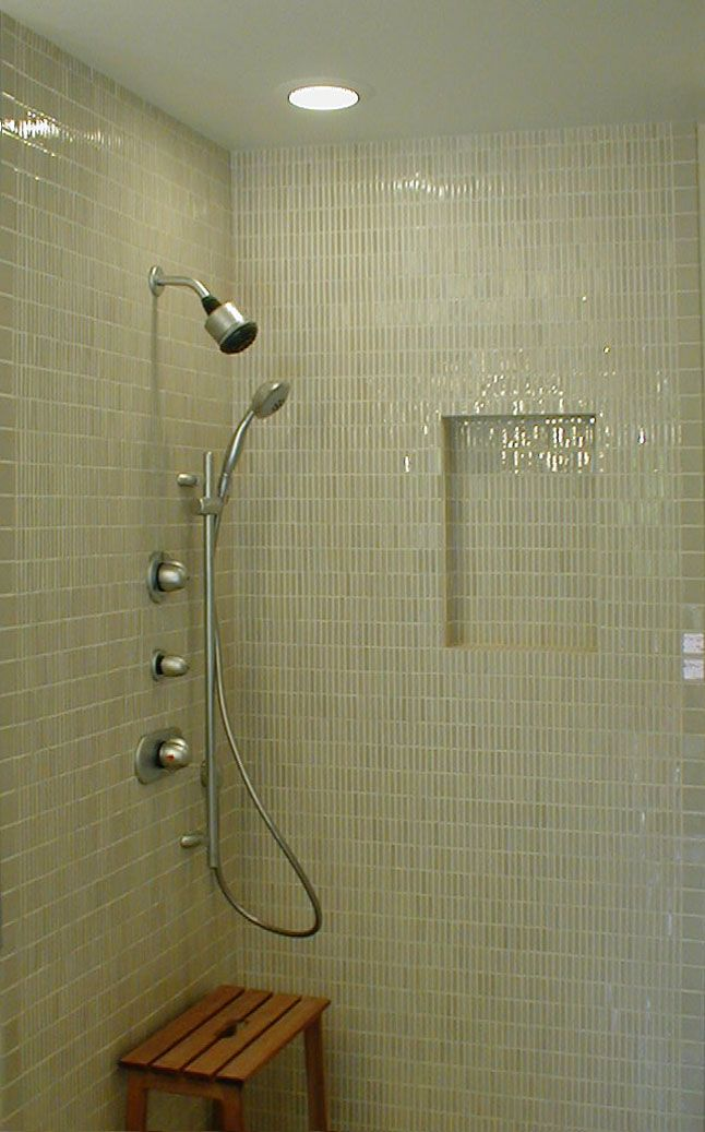Niches In Shower Stalls Shower Stall A Niche Was Built With