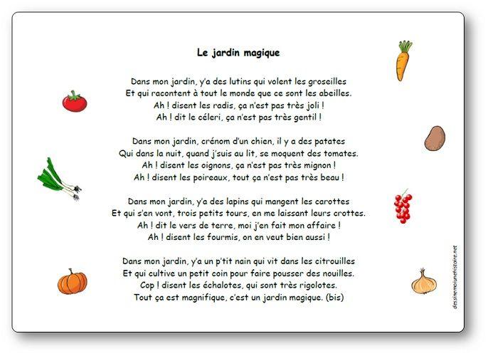 Chanson Le Jardin Magique Paroles Illustrees De La Chanson Le