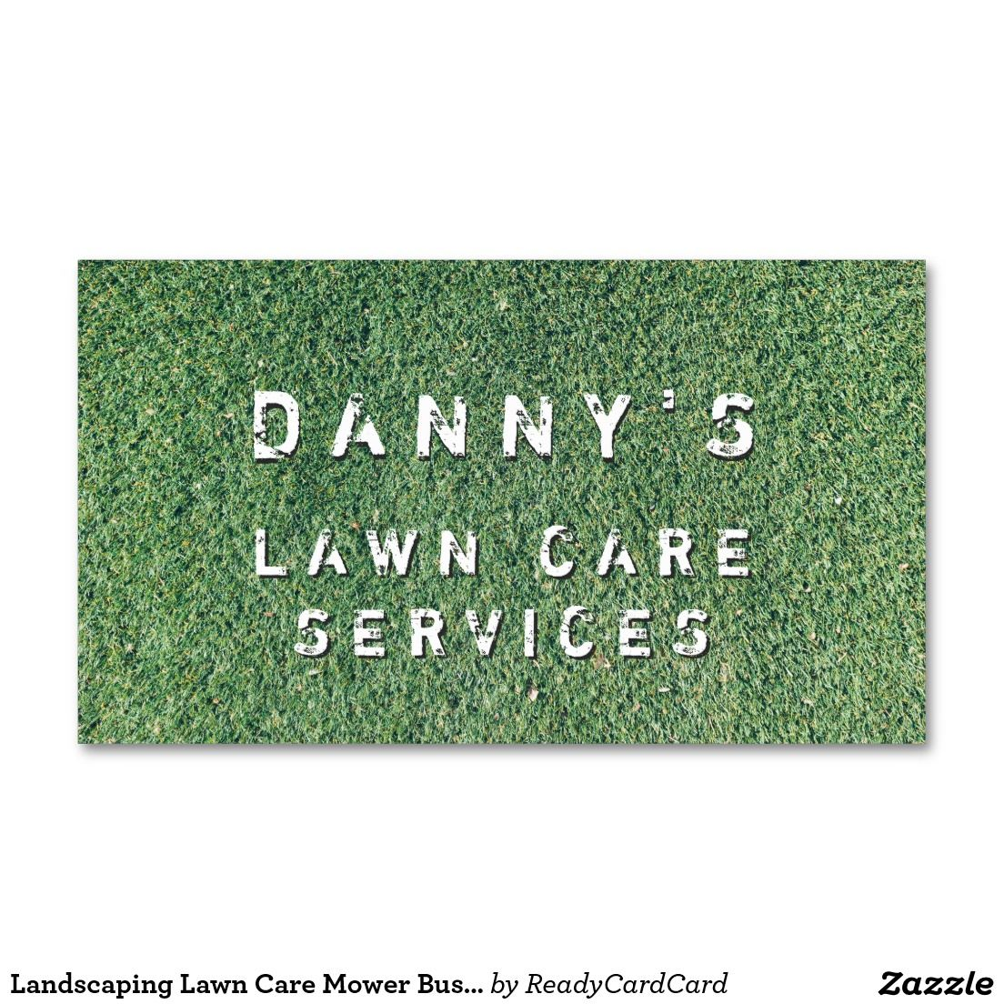 landscaping lawn care mower business card template  lawn care