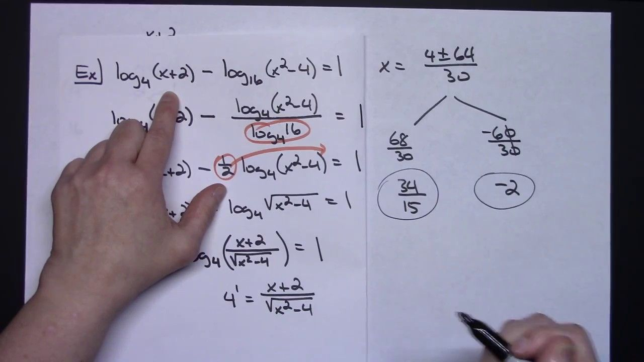 Solving Log Equations With Different Bases Algebra 2 Pre Calculus Calculus Algebra Equations