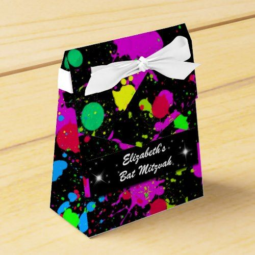 """Neon, """"FAUX"""" Glow within the Darkish, Personalised Favor Field. ** Find out even more at the picture link"""