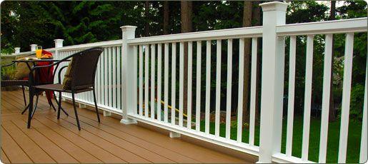 Fiberon Makes Beautiful Composite Railings Visit Http Www Fiberondecking Com To Learn More Deck Railings Deck Timber Deck