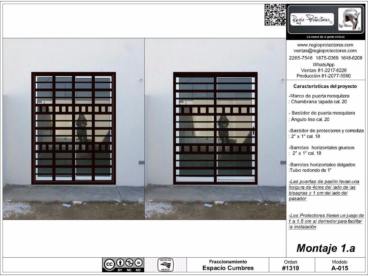 Regio protectores protectores para ventanas puertas for Ver disenos de puertas de fierro