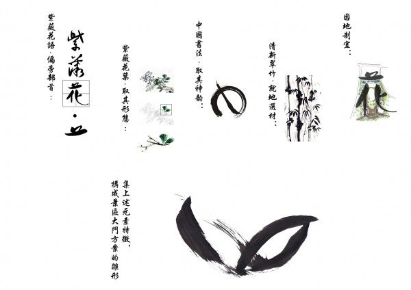 Blossom-gate is a Landmark Based on Chinese Caligraphy / prechteck